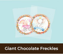 Personalised Birth Announcement Chocolate Freckles