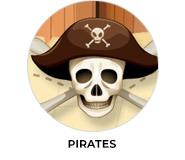 Pirate Treasure Map Theme Custom Birthday Favours