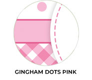 Gingham And Dots Pink Birthday Favours