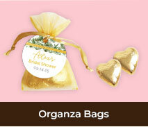 Bridal Shower Personalised Organza Bags