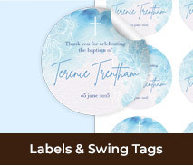Christening Personalised Labels And Swing Tags