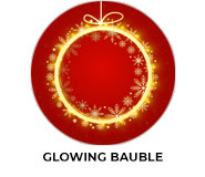 Glowing Bauble Theme Custom Christmas Favours