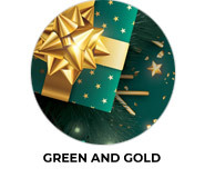 Green & Gold Gifts Custom Christmas Favours