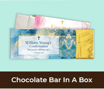 Personalised Confirmation Chocolate Bar Boxes