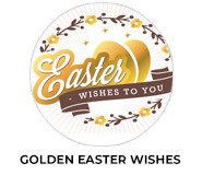 Golden Easter Wishes Chocolate Favours