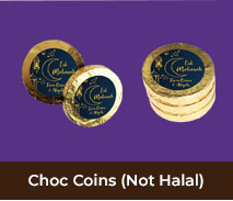 Personalised Gold Chocolate Coins For Eid