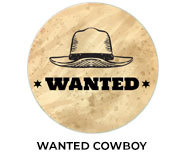 Wanted Cowboy Theme Birthday Favours