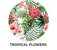 Tropical Flowers Theme Wedding Favours