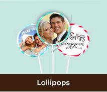 Personalised Wedding Lollipops