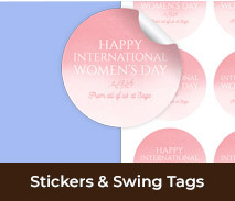 International Womens Day Stickers And Swing Tags