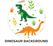 Dinosaur Background Birthday Party Favours