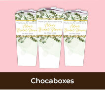 Custom Chocabox Favour Boxes For Bridal Showers