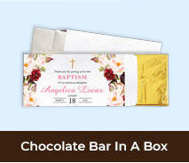 Personalised Christening Chocolate Bar Boxes