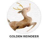 Golden Reindeer Theme Custom Christmas Favours
