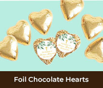 Custom Foil Chocolate Hearts For Confirmations