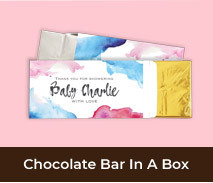 Personalised Gender Reveal Chocolate Bar Boxes