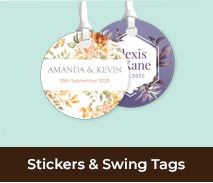 Personalised Wedding Labels And Stickers