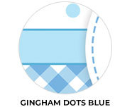 Gingham And Dots In Blue Birthday Favours
