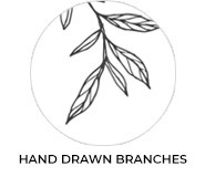Hand Drawn Branches Theme Baby Shower Favours