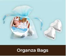 Birth Announcement Custom Organza Bags