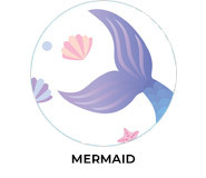 Mermaid Theme Personalised Birthday Party Favours
