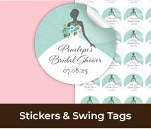 Custom Stickers And Swing Tags For Bridal Showers