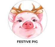 Festive Pig Theme Custom Christmas Favours