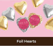 Personalised Hens Night Foil Chocolate Hearts
