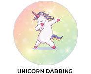 Unicorn Dabbing Theme Birthday Favours