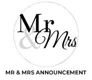 Mr And Mrs Announcement Theme Wedding Favours