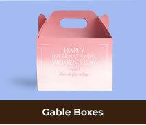 Custom Gable Boxes For International Womens Day