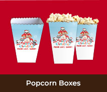 Personalised Popcorn Boxes For Christmas