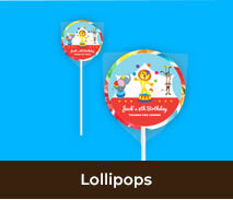 Birthday Lollipops For Kids Parties