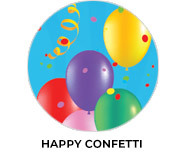 Happy Confetti Birthday Party Favours