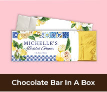 Personalised Bridal Shower Chocolate Bar Boxes