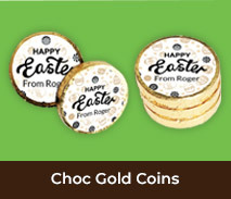 Personalised Easter Gold Chocolate Coins