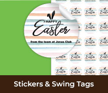 Personalised Stickers And Swing Tags For Easter