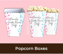 Personalised Popcorn Boxes For Gender Reveals
