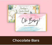 Custom Chocolate Bars For Gender Reveal Parties