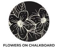 Flowers On Chalkboard Wedding Theme Favours