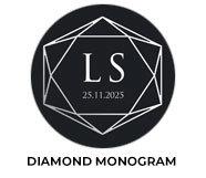 Diamond Monogram Wedding Theme Favours