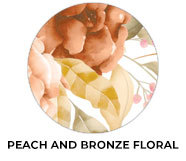 Peach And Bronze Floral Wedding Theme Favours