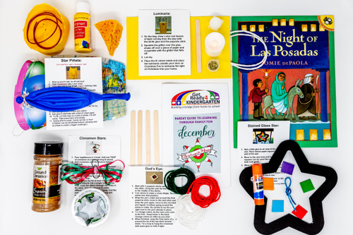 This box will engage and entertain your family while helping them learn about the Mexican holiday of Las Posadas. Like all Get Ready 4 Kindergarten boxes, this one is filled with ideas for your family to talk, read, play, think. and do lots of fun activities together!