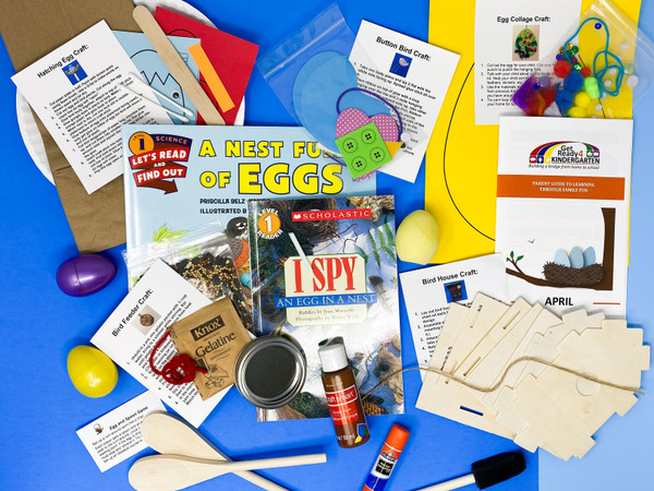 Our April Kindercarton is all about Nests and Eggs!