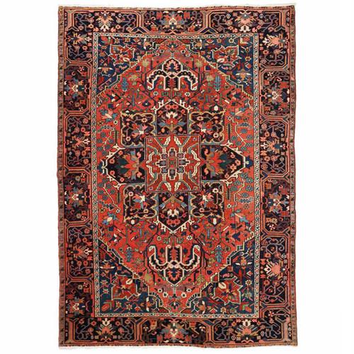 Vibrant Authentic Semi-Antique Heriz Rug, Persia c. 1920-30