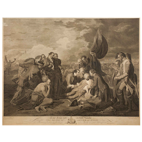 """""""The Death of General Wolfe"""" (1776)   Engraving by William Woollett after Benjamin West"""