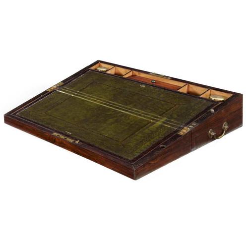 Regency Rosewood Writing Slope, England c. 1820-35