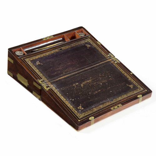 A Rare Regency Rosewood Writing Slope, England c. 1815