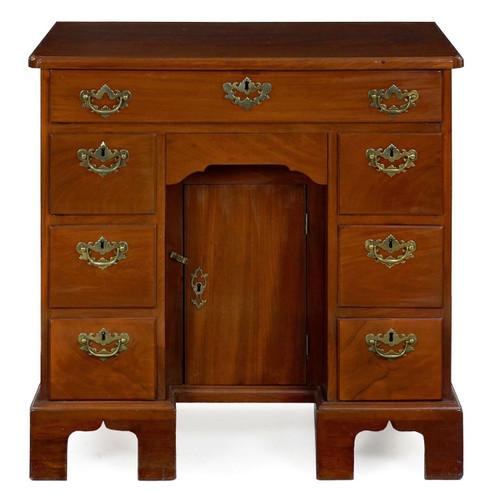 George II Figured Mahogany Kneehole Dressing-Table, England c. 1750