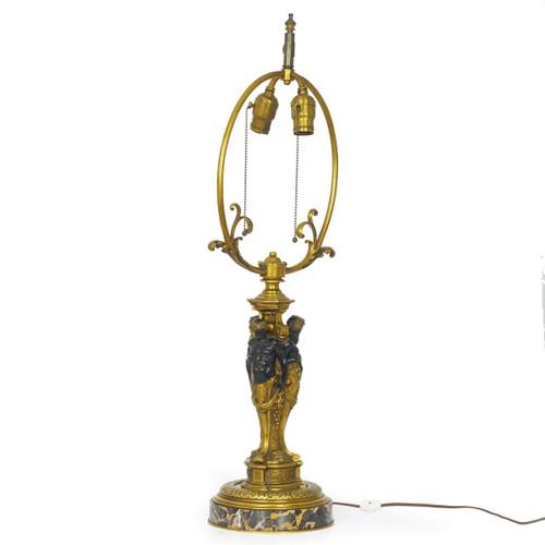 A Fine Belle Époque Bronze Figural Lamp | France, 19th Century